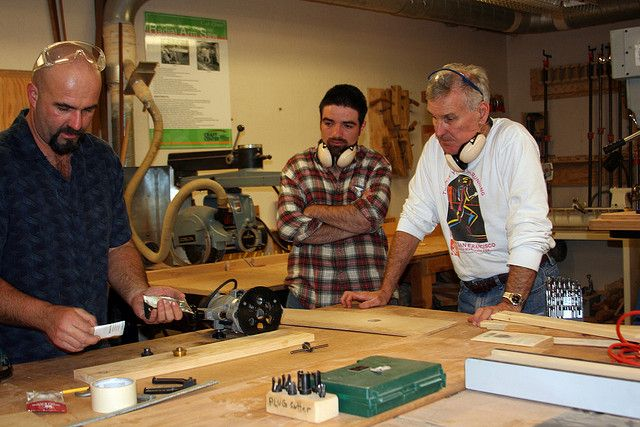 Woodworking class at the UC Davis Craft Center. Photo by Michael ...