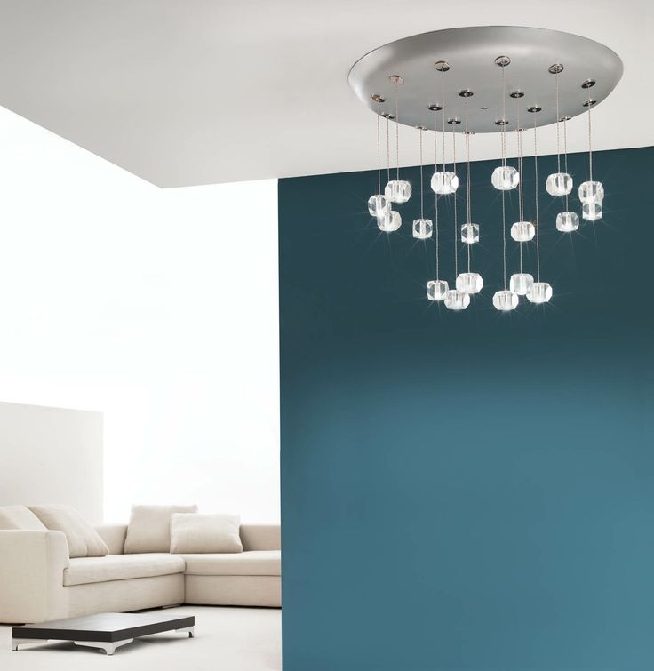 Conca with Gemma - crystal lighting fixture. Design Pepe Tanzi. Made in Italy
