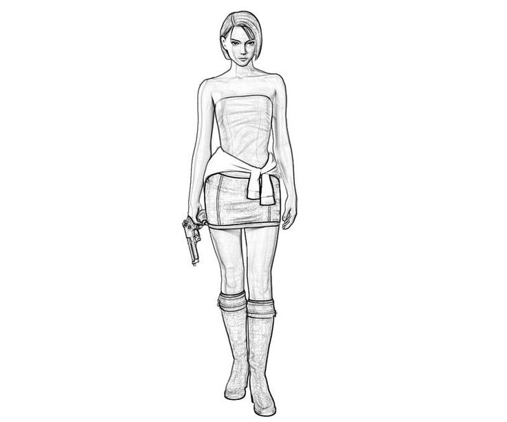 ada wong coloring pages - photo#18
