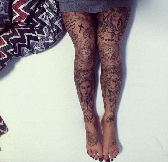 15 Gorgeous Leg Tattoos For Women