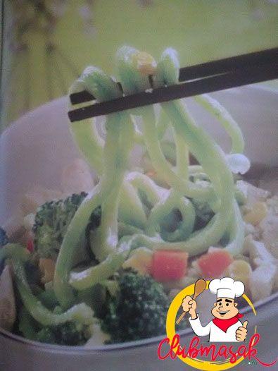 Resep Udon Hijau Kuah Susu Kedelai, Hidangan Organik Ala Resto, Club Masak