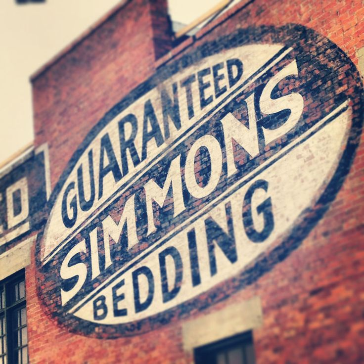 The Simmons Building in the East Village #simmons #eastvillage #yyc #vintage