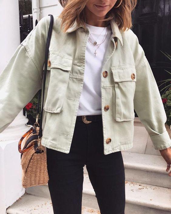 Übergroße Boyfriend Cool Big Pockets Button Up Shirt Jacke Womens Details: u00a