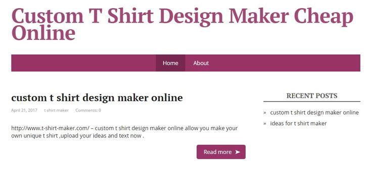 http://www.t-shirt-maker.com/ - the best custom t shirt design maker online, allow people to upload the logo and design ideas to make unique t shirts. #shirtmakerdesign