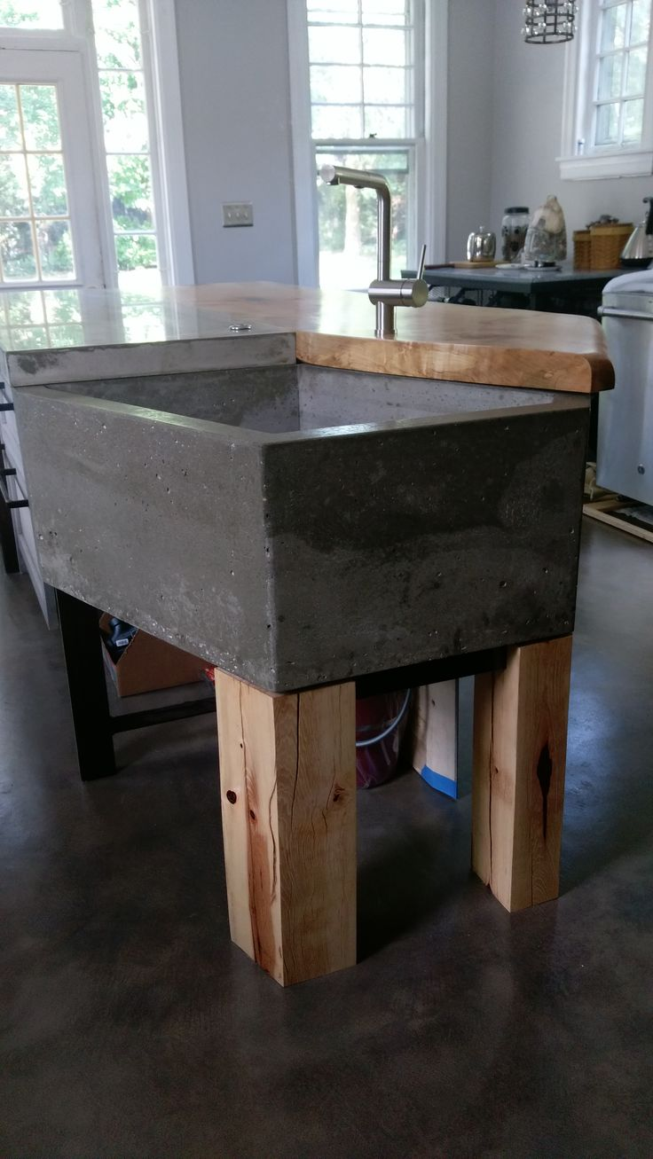 Kitchen Island 4 X 8 27 best images about concrete sinks/countertops on pinterest | see