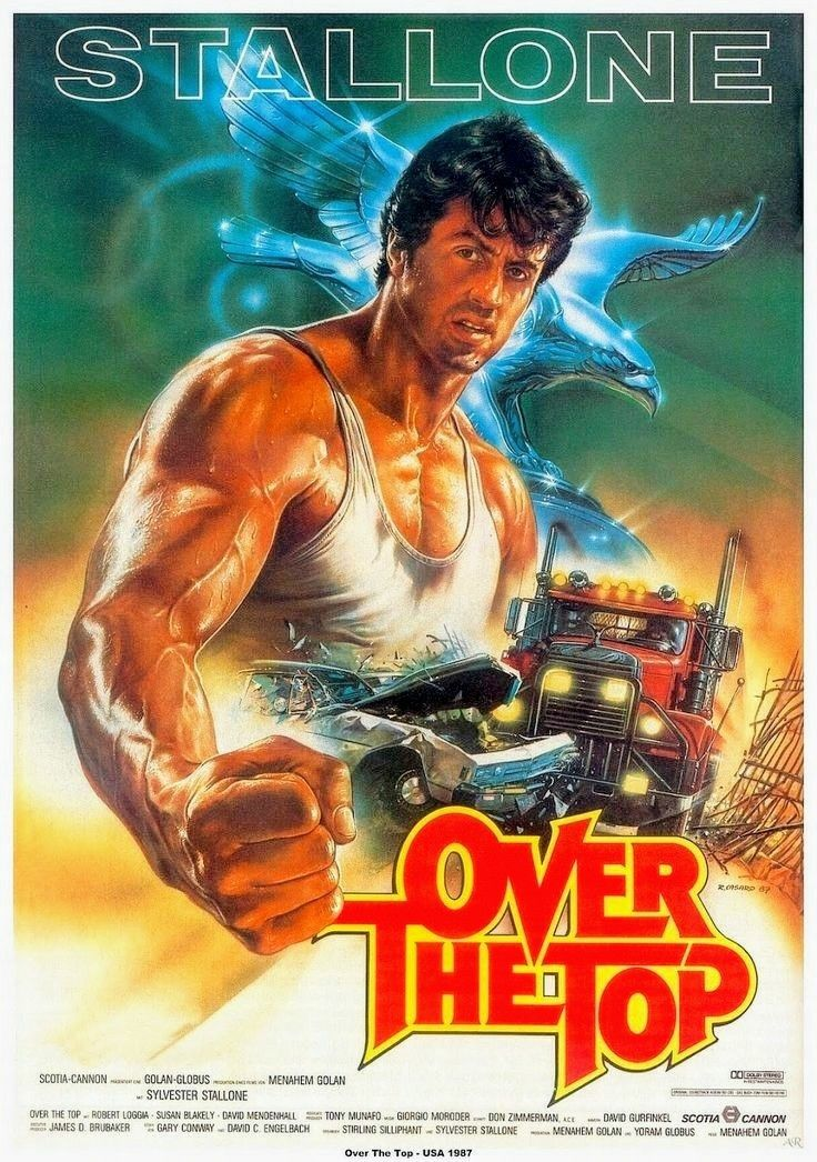 Over The Top Stallone Classic Movie Cartaz Poster Filmes