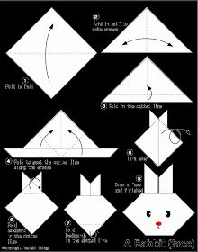 Chyler made girl and boy bunnies with bows and tails =80))  Easy Origami For Kids.: Rabbit(face)
