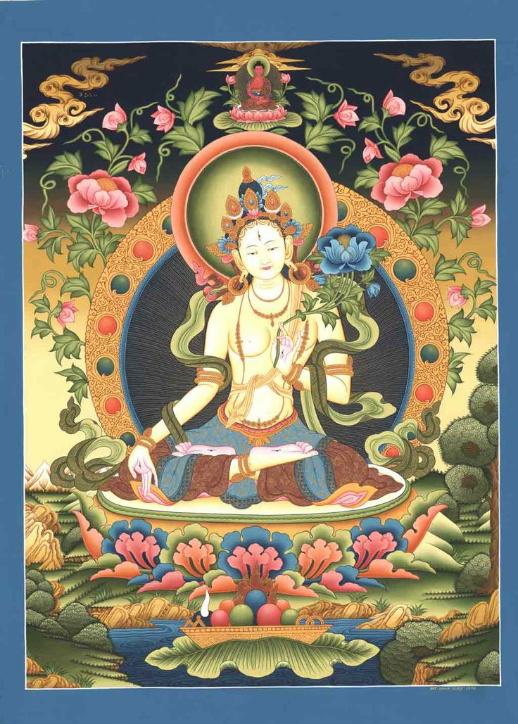 """There are 21 different forms of Tara, the most popular among them being the White and the Green Tara. She is the embodiment of motherly love and eventually came to be known as the """"Mother of all Buddhas""""; as such, she is worshipped in a majority of Buddhist communities throughout the world."""