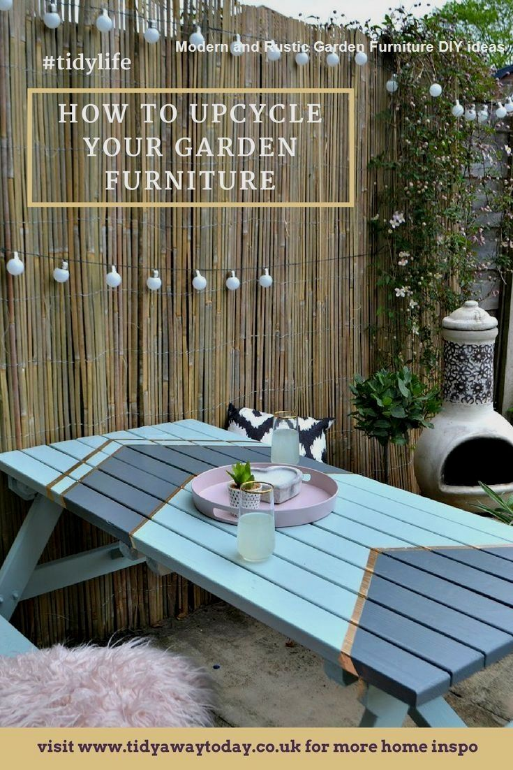 Most Affordable And Simple Garden Furniture Ideas Diy Furnitureideas In 2020 Painted Garden Furniture Wooden Garden Furniture Diy Garden Furniture