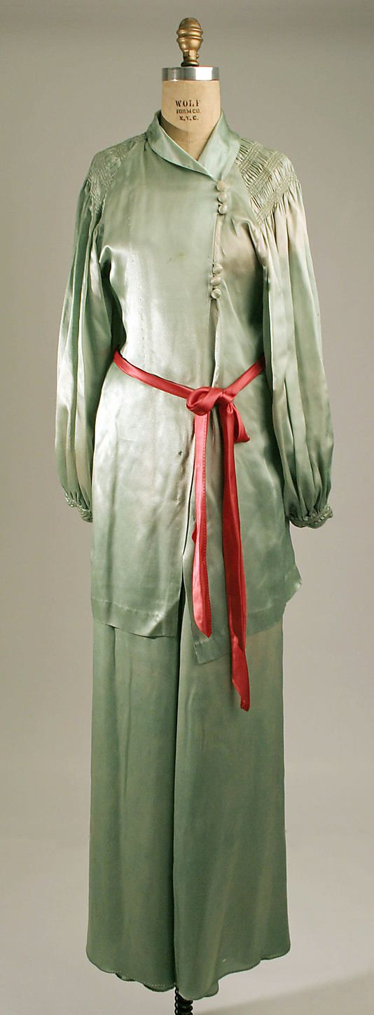 Pajamas  Date: early 1930s Culture: American