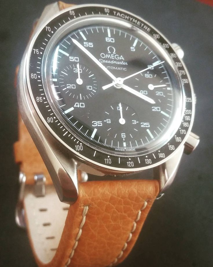 """41 Likes, 4 Comments - Victor M. Fierro (@omeganato) on Instagram: """"Omega Speedmaster reduced. The CONTRAST makes the difference. Light brown leather strap. #straps…"""""""