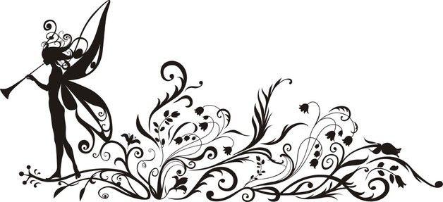 Wandtattoo - Wandtattoo Fensterbild Elfe Zauber Blumen - ein Designerstück von TrudisFolien bei DaWanda