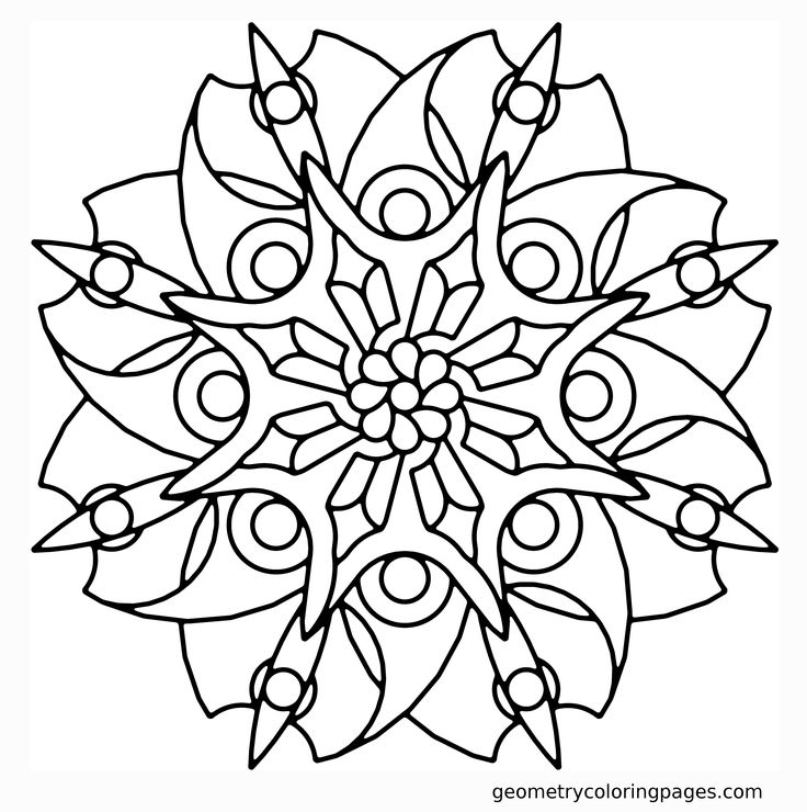 blade flower geometry coloring pages
