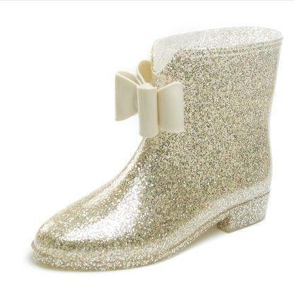 2015 femmes Plus le coton courtes bottes de pluie fleur / arc talon plat bottes de pluie en caoutchouc bottines Botas de agua bottes en caoutchouc étanche dans Bottes pour femmes de Chaussures sur AliExpress.com   Alibaba Group