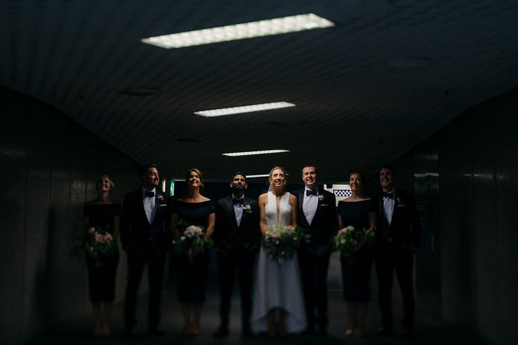 Black and white bridal party style