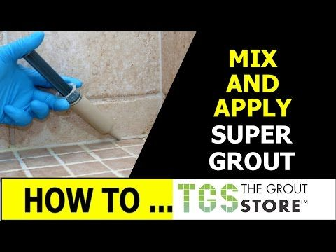 Caulk Bathroom with Waterproof Grout - The Grout Store - YouTube