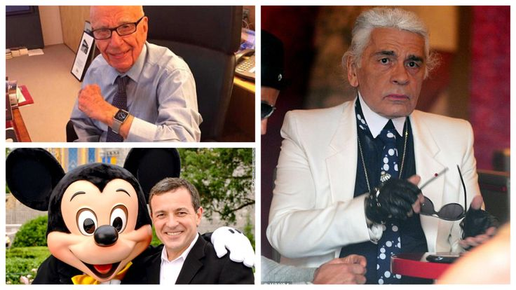 Rubert Murdoch, Bob Iger, and Karl Lagerfeld own an Apple Watch http://www.businessinsider.com/famous-people-who-own-an-apple-watch-and-how-much-they-cost-2015-6/#pper-frank-ocean-posted-a-photo-on-tumblr-of-himself-wearing-a-339-aluminium-apple-watch-with-a-white-strap-2