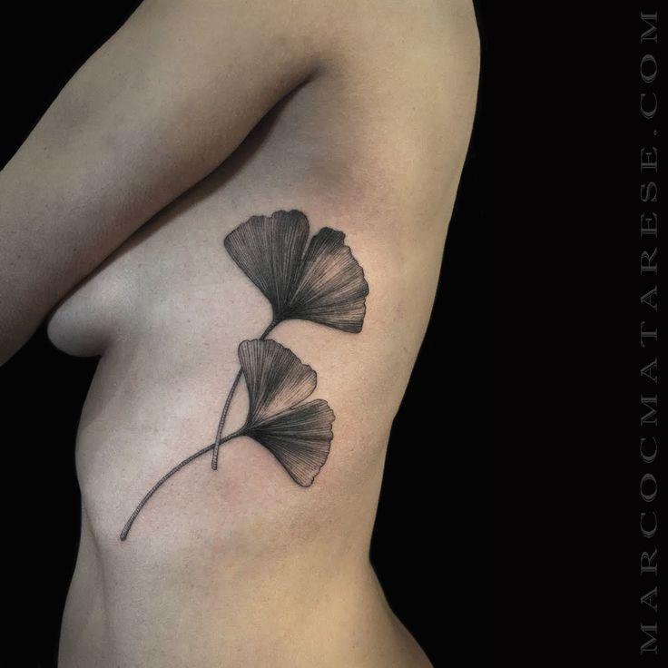 Ginkgo flower etching tattoo Marco C. Matarese