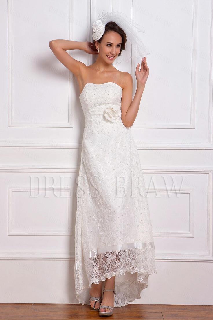 Best 46 Brides dress images on Pinterest | Wedding frocks, Short ...