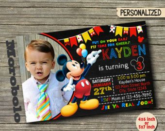 Invitaciones de Mickey Mouse Clubhouse / Mickey Mouse por MOROBOLO