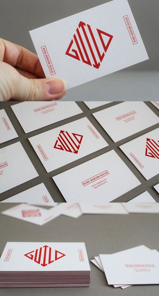 Design Guild Card | Card Observer | #Business #Card #letterpress #creative #paper #businesscard #corporate #design #visitenkarte #corporatedesign < repinned by www.BlickeDeeler.de