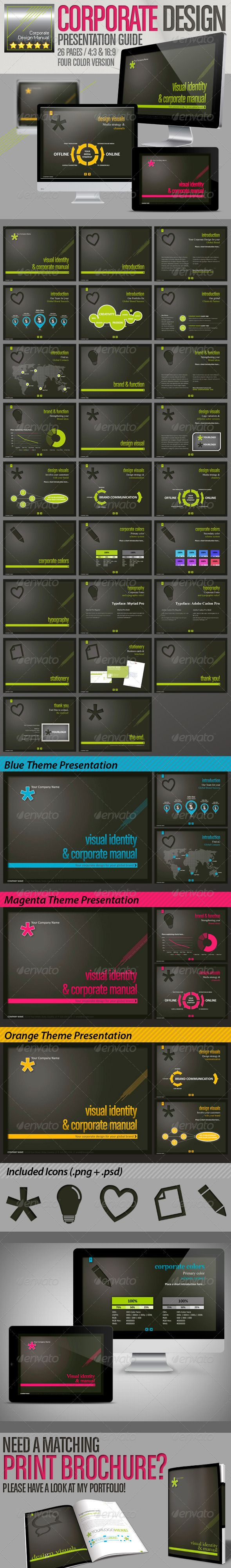 Corporate Design Manual // Design Presentation // Get the source files for download: http://graphicriver.net/item/corporate-design-manual-design-presentation-/2564289