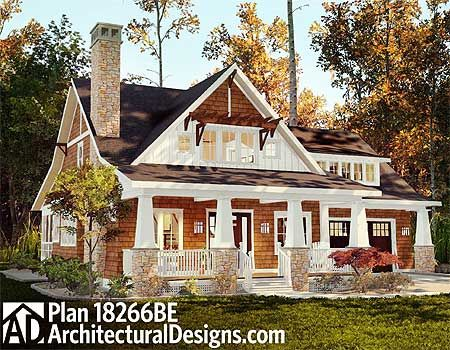 Cottage House Plan 18266BE. Around 1,900 sq. ft. and 2 to 3 beds.