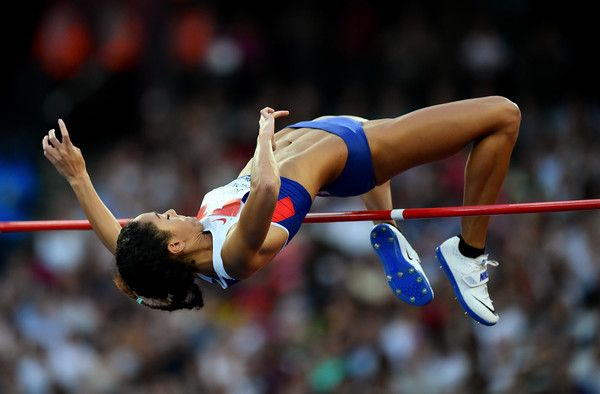 Katarina Johnson Thompson of Great Britain in action during the womens high jump Day One of the Muller Anniversary Games at The Stadium -…