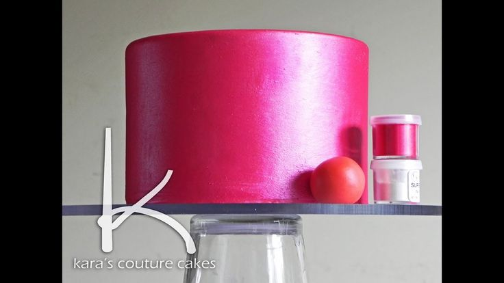 How to make your cake shimmer by Kara's Couture Cakes