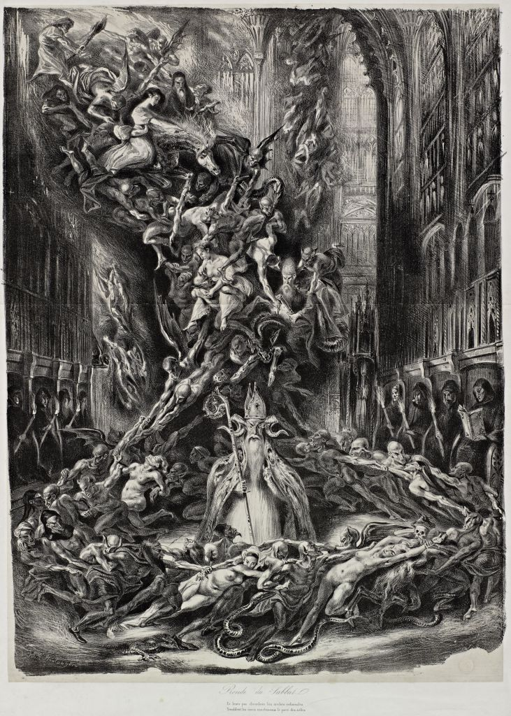 "Five hundred years of Satanic art - Louis Boulanger, ""The Round of the Sabbath"" (1828)."