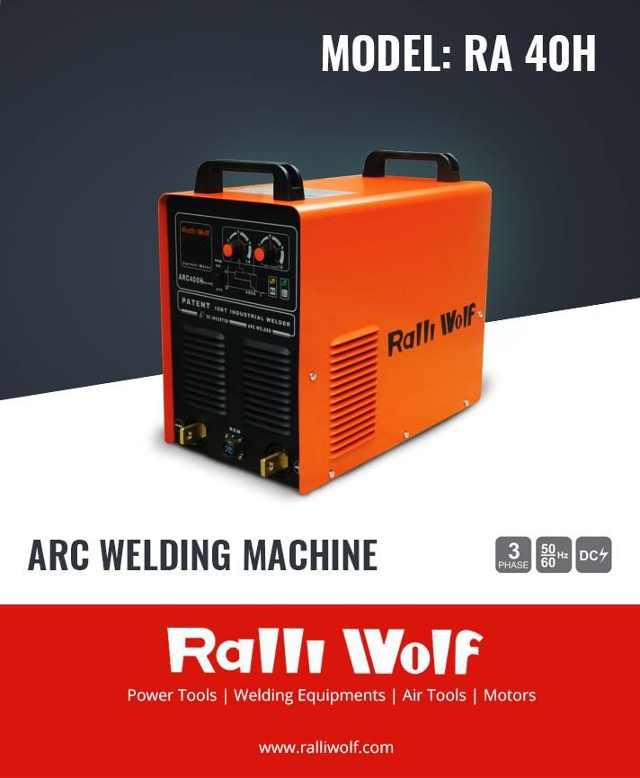 RA 40H is an excellent Arc #Welding #Machine, which is light in weight, power saving with high power factor, high efficiency, Steady DC current output and compact design.