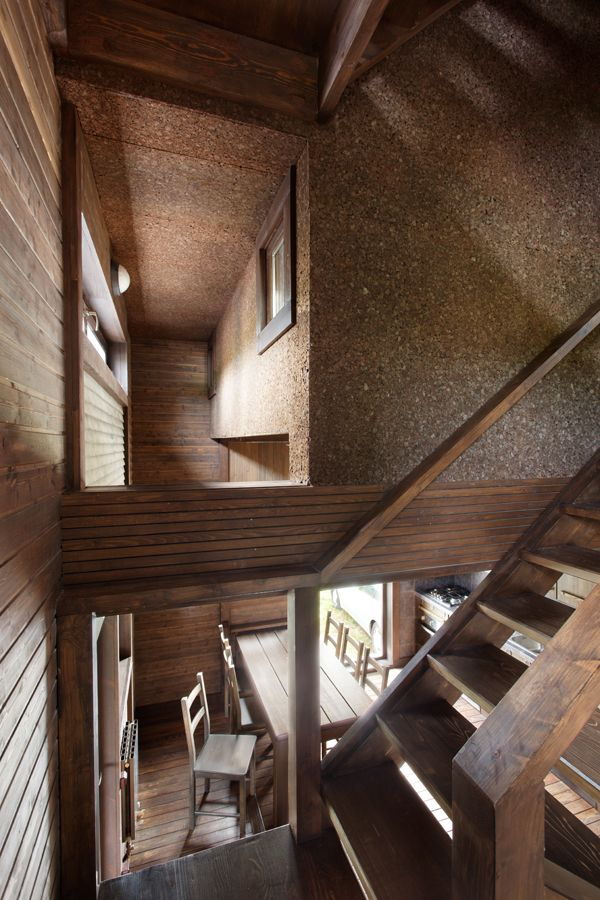 Wood Patchwork #House by Peter Kostelov | Like & pin it to your board if you like this! #architecture #residential #woodarchitecture