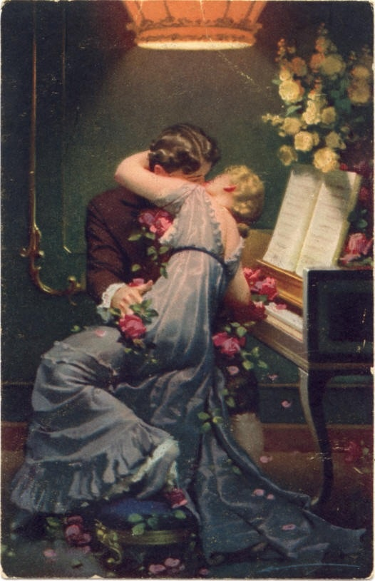355 best sappy vintage antique romantic art lovers couples love romantic notions kisses by the piano i need you more than want you sciox Gallery