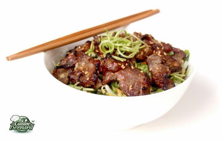 La Cuisine de Bernard : Salade Vietnamienne au Porc Caramélisé