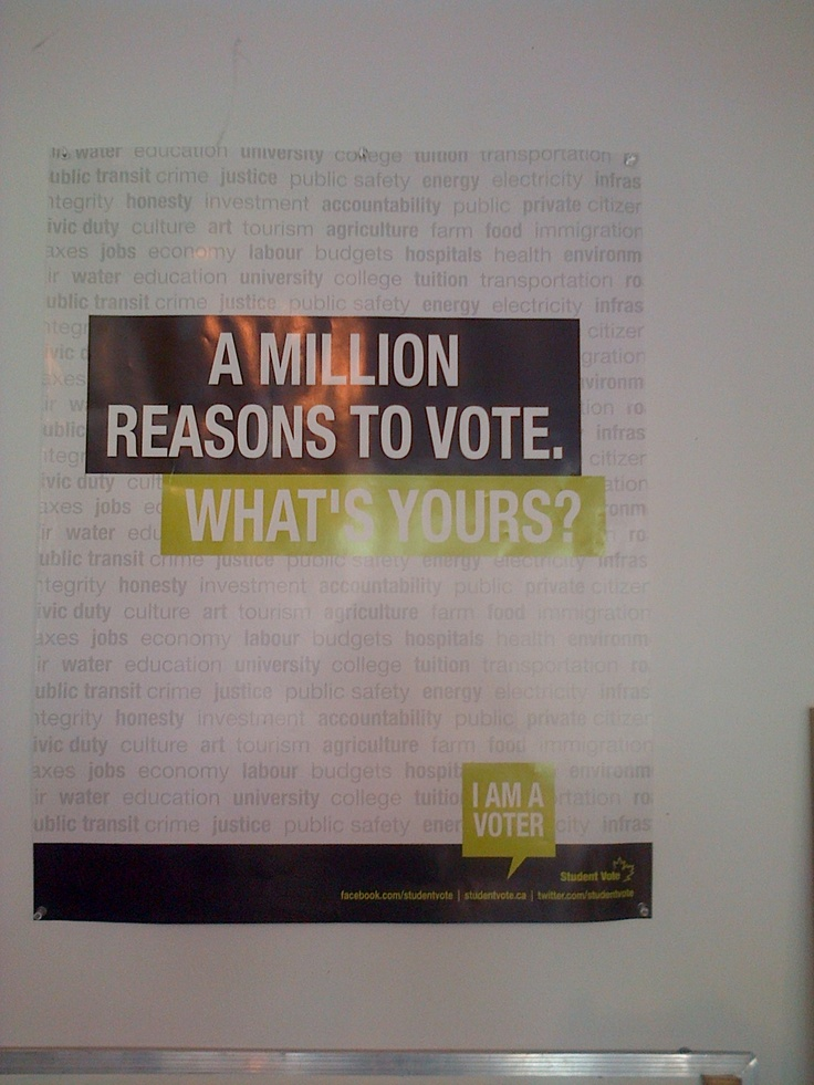 The 2011 Student Vote Provincial Election Poster.