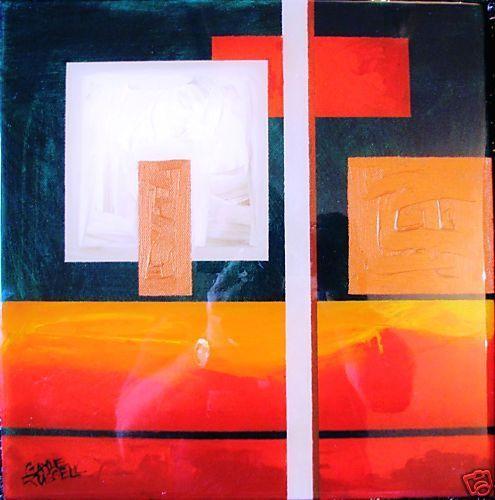 Well Regarded Australian Artist Gayle Russell, glass abstract titled  Horizon I