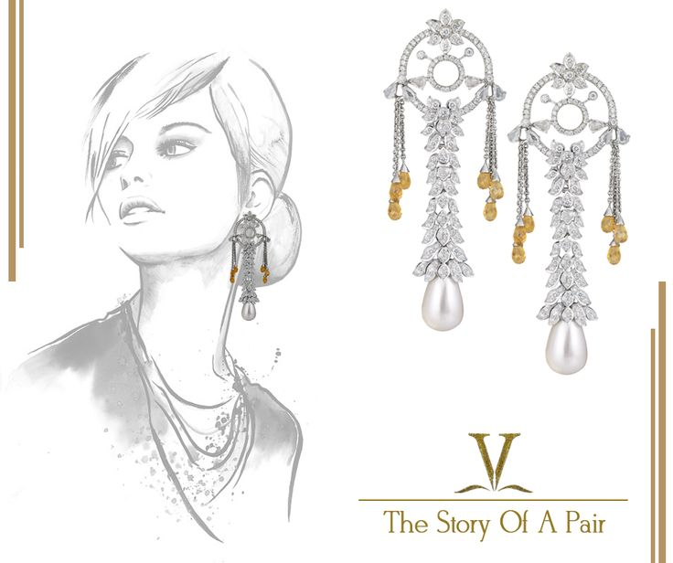 Capture everything that you aspire with our dream-catcher inspired diamond chandelier earrings.