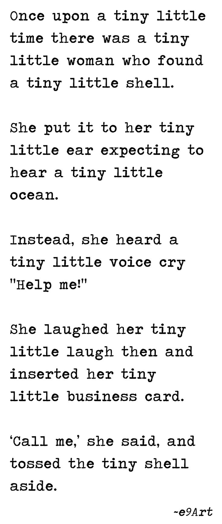 9 best short stories images on pinterest baby books a tiny little shell by e9art microfiction very short story vss pinlit fandeluxe Images