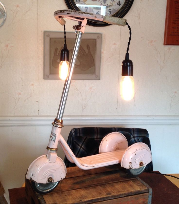 Vintage scooter lamp.