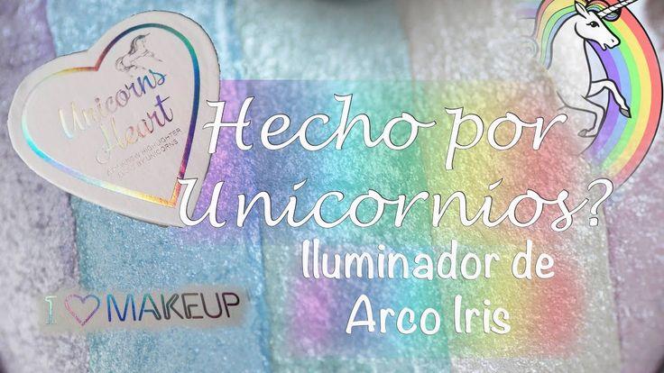 Iluminador de Arco Iris / Unicornios Makeup Revolution - Reseña y Colore...