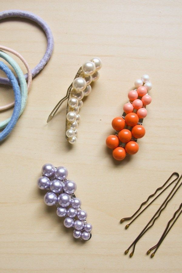 Pearl Hair Clip Diy Make And Fable Bead Hair Accessories Hair Clips Diy Diy Hair Accessories
