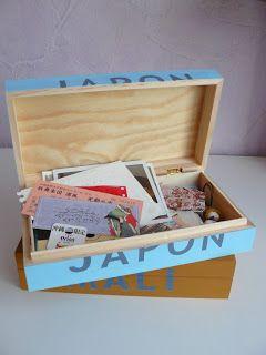 Mes boîtes à souvenirs selon une idée de Martha Stewart, by Akiko