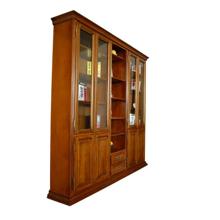 Biblioteca MAGDA cu usi jos si usi cu vitrina sus  | #Mobila