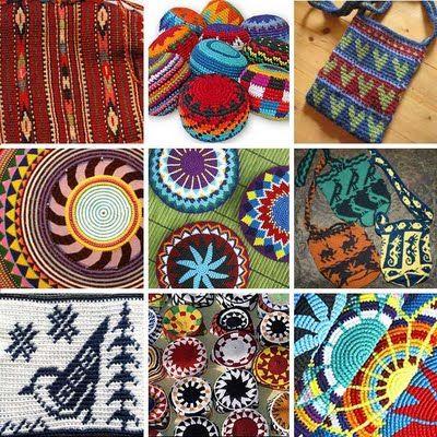 Tapestry crochet or left hand backwards crochet tequnic