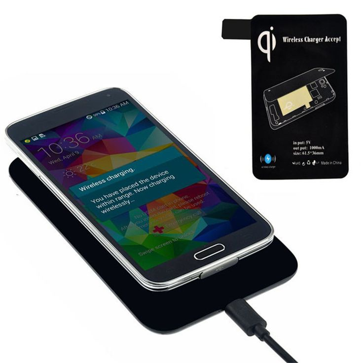 High Quality Qi Standard Wireless Charger Quick Charging+ Receiver Tag For Samsung Galaxy S5 I9600 G900 Portable #Affiliate