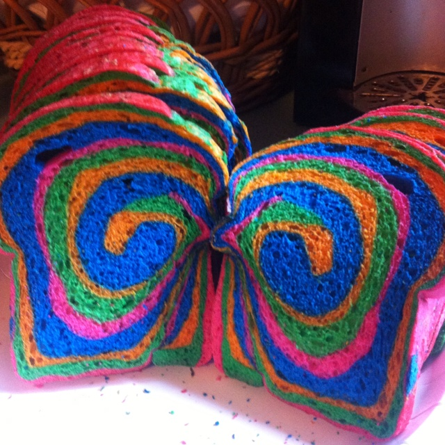 Rainbow bread! My grandparents always bought this for me!! Memories!