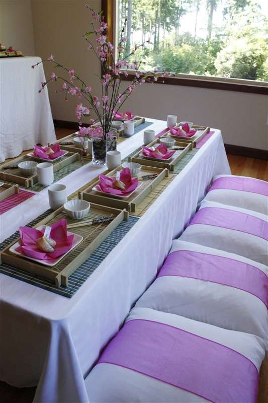 A Japanese Tea Party Birthday Party Ideas | Photo 2 of 13 | Catch My Party