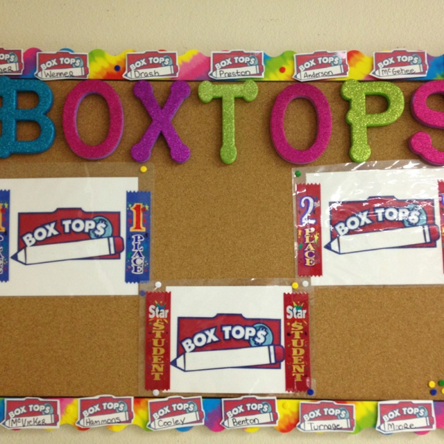 Our box top board! & 62 best Box Tops images on Pinterest | Box tops contest School ... Aboutintivar.Com