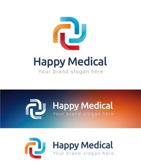 Happy Medical Logo Template by Premiem Design Resources on Creative Market