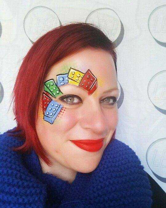 Facepaint inspired by Pam Kinneberg Lego